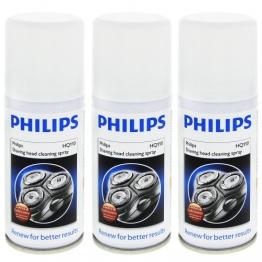 3x Philips HQ 110 Reinigungsspray,100 ml/ für Scherköpfe für bessere Ergebnisse / zum reinigen und ölen / Scherkopfreinigungsspray für Rasierer - 1
