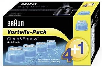 Braun Clean&Renew CC-System Reinigungskartuschen, Promo-Pack 4+1 - 1