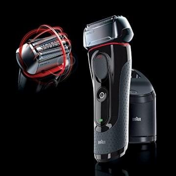 Braun Series 5 5050cc  Elektrorasierer mit Clean&Charge-Station und zwei Nachfüllpackungen - 3