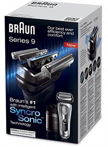Braun Series 9 9090cc elektrischer Folienrasierer mit Reinigungsstation, Silber - 8