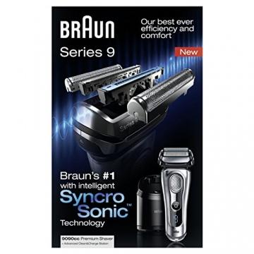 Braun Series 9 9090cc elektrischer Folienrasierer mit Reinigungsstation, Silber - 9