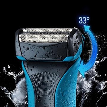 Braun WaterFlex WF2s Wet & Dry elektrischer Folienrasierer (flexibler Scherkopf), Blau - 6