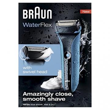 Braun WaterFlex WF2s Wet & Dry elektrischer Folienrasierer (flexibler Scherkopf), Blau - 8