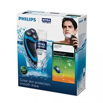 Philips AT750/26 AquaTouch Nass- & Trockenrasierer (Rasierschaumprobe) - 6