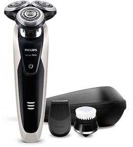 Philips S9090/43 Series 9000 Nass- und Trockenrasierer (Präzisionstrimmer, Gesichtsreinigungsbürste) - 1