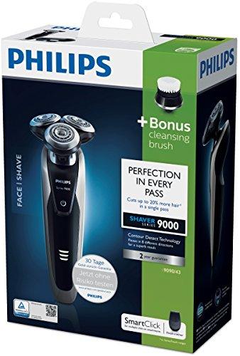 Philips S9090/43 Series 9000 Nass- und Trockenrasierer (Präzisionstrimmer, Gesichtsreinigungsbürste) - 6