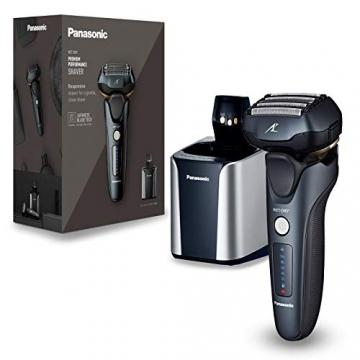 Panasonic ES-LV97-K803 Nass/Trocken-Rasierer, 5-fach-Scherkopf mit Linearmotor, inklusiv Reinigungs- und Ladestation, schwarz - 1