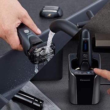 Panasonic ES-LV97-K803 Nass/Trocken-Rasierer, 5-fach-Scherkopf mit Linearmotor, inklusiv Reinigungs- und Ladestation, schwarz - 5