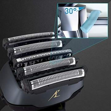 Panasonic ES-LV97-K803 Nass/Trocken-Rasierer, 5-fach-Scherkopf mit Linearmotor, inklusiv Reinigungs- und Ladestation, schwarz - 8