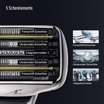 Panasonic kompakter Rasierer ES-CV51-S803 ideal für Reisen, mit 5 Scherelementen, Nass- und Trockenrasur, inkl. Reiseetui - 2