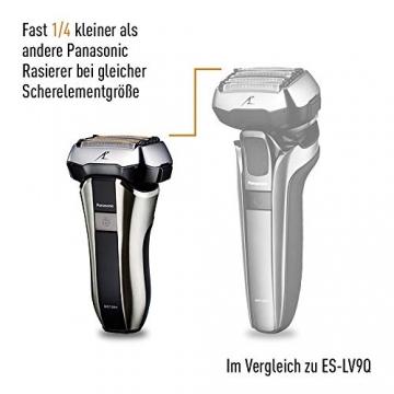 Panasonic kompakter Rasierer ES-CV51-S803 ideal für Reisen, mit 5 Scherelementen, Nass- und Trockenrasur, inkl. Reiseetui - 3