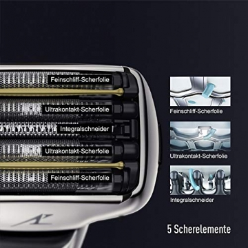 Panasonic Premium Rasierer ES-LV6Q mit 5 Scherelementen, Nass- & Trockenrasierer mit flexiblem 3D-Scherkopf & ausklappbarem Bart-Trimmer - 2