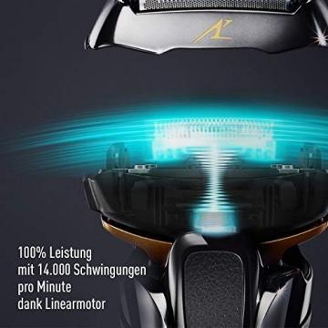 Panasonic Premium Rasierer ES-LV6Q mit 5 Scherelementen, Nass- & Trockenrasierer mit flexiblem 3D-Scherkopf & ausklappbarem Bart-Trimmer - 3