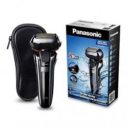 Panasonic Premium Rasierer ES-LV6Q mit 5 Scherelementen, Nass- & Trockenrasierer mit flexiblem 3D-Scherkopf & ausklappbarem Bart-Trimmer - 1