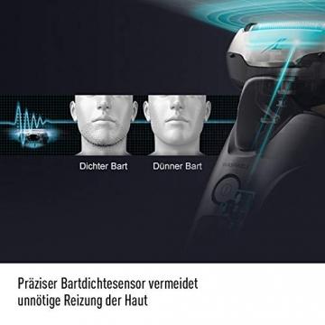 Panasonic Premium Rasierer ES-LV6Q mit 5 Scherelementen, Nass- & Trockenrasierer mit flexiblem 3D-Scherkopf & ausklappbarem Bart-Trimmer - 5