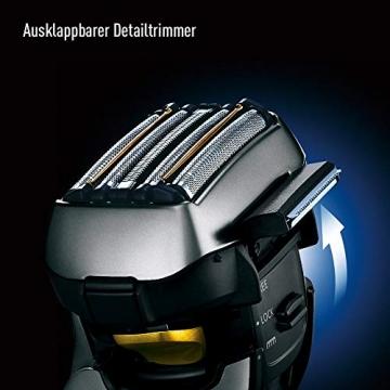 Panasonic Premium Rasierer ES-LV6Q mit 5 Scherelementen, Nass- & Trockenrasierer mit flexiblem 3D-Scherkopf & ausklappbarem Bart-Trimmer - 6